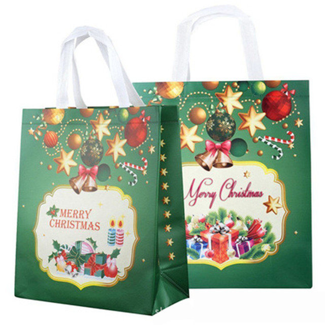 1 pc non woven fabric christmas gift bags with handle clothes bag christmas santa claus