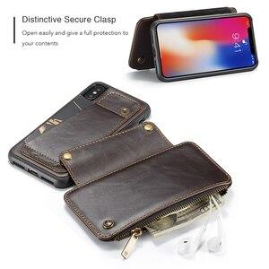 Image 5 - Afneembare Lederen Case Voor Iphone 11 Pro Max X Xr Xs Max Rits Flip Telefoon Case Voor Iphone 8 7 plus 6 6S Se 2020 Portemonnee Gevallen