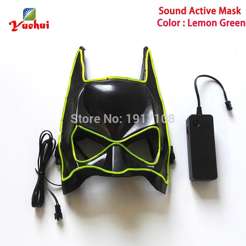 Handwerk Maske 10 farben Sound aktiviert EL draht Maske Halloween ...