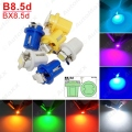 10Pcs 7colors Car 12V B8.5d/BX8.5d/BAX10d 1SMD 5050 Gauge Dashboard LED Light Interior Lamp #J-4237