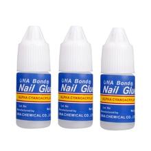 Graceful 3 Pcs/Set Nail Glue Use for Rhinestones Nail Stickers False Tips High Quality Nails Decoration Beauty OCT13