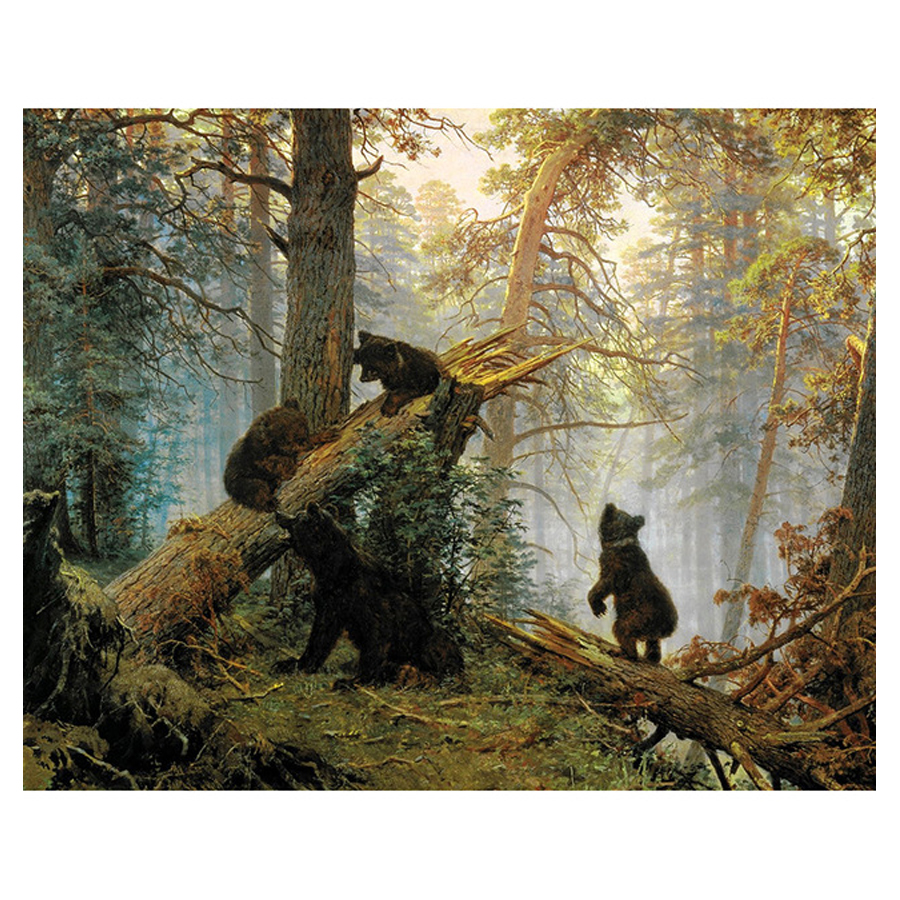 forest bears Pattern Diy Diamond Painting Cross Stitch Square Diamond Embroidery Mosaic Kits mazayka natural scenery SD946