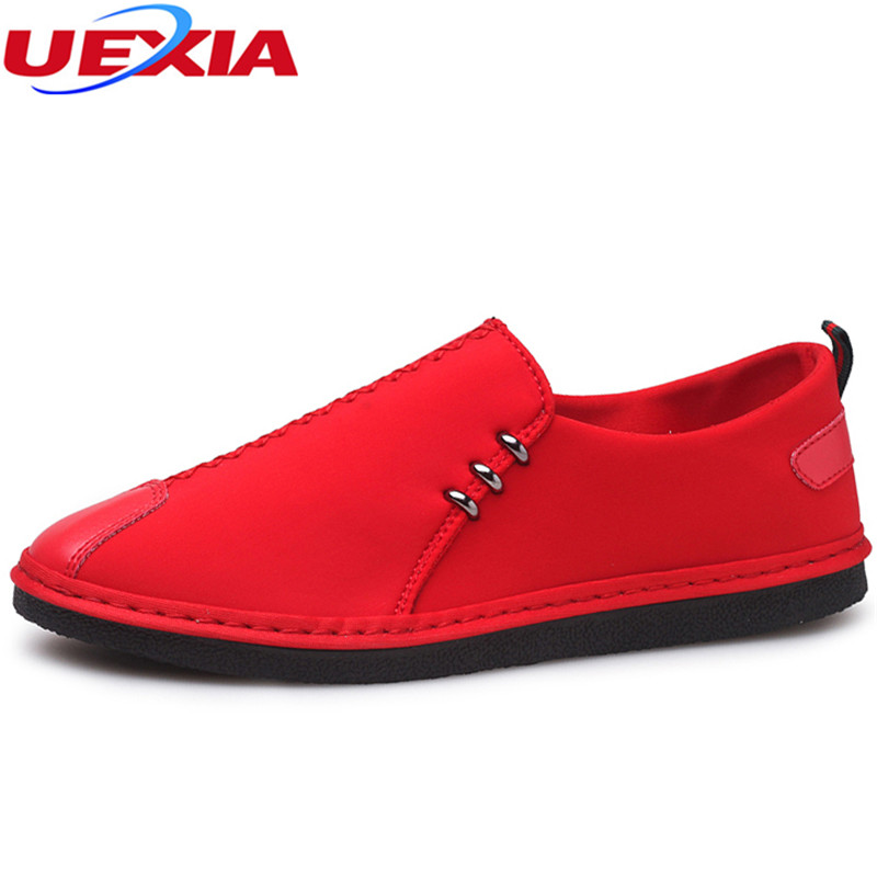 UEXIA 2018 New arrival Shoes Men Breathable Casual Shoes For Men Casual Shoes Slip On Fashion Flats Loafers Comfortable Students 2017 brand new men spring fashion breathable slip on shoes stretch fabric light shoes casual flats jogging loafers shoes wb 36