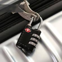 Travel Lock Alloy TSA Customs Combination Code Lock Padlock For Luggage Zipper