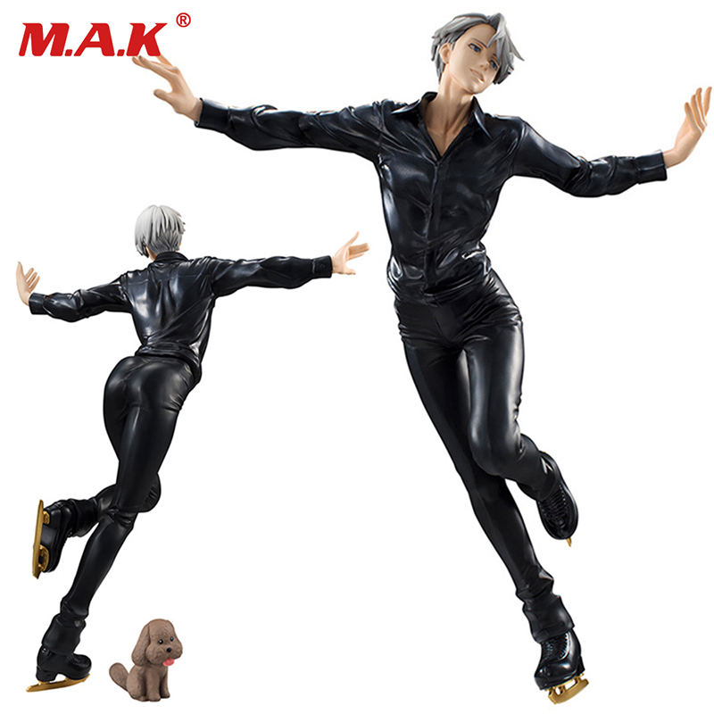 23cm 1/8 Scale PVC Yuri on ice skating girl lady cartoon anime action figures Victor Nikiforov models toys collections цена