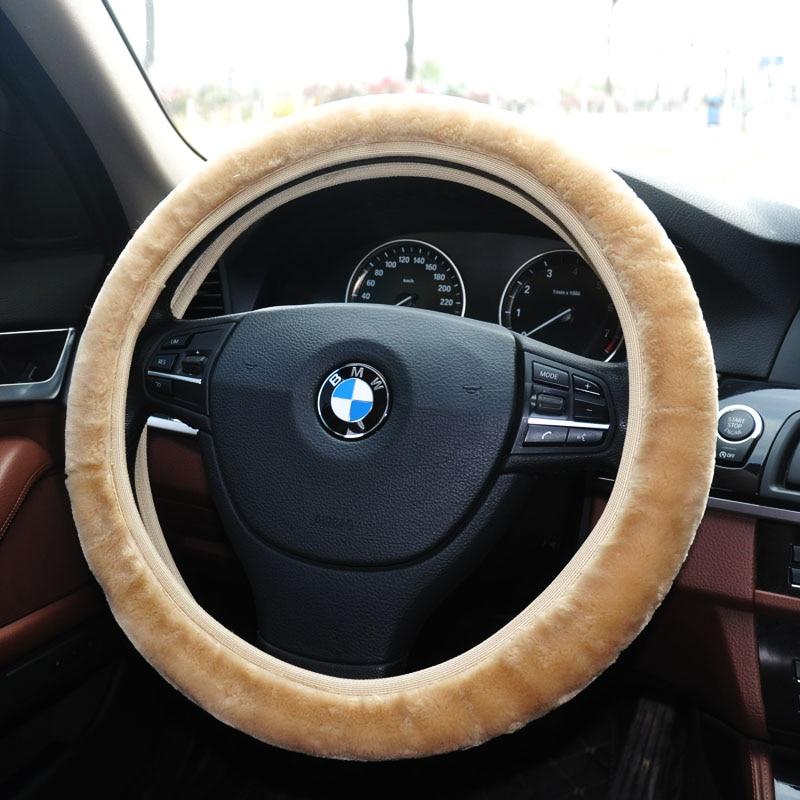 """us $14 99 natural sheepskin steering wheel steering wheel cover premium wool steering wheel cover universal fit 14\"""" 15 inch car styling in steering"""