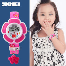 Часы светодиодные детские электронные цифровые Мультяшные модные