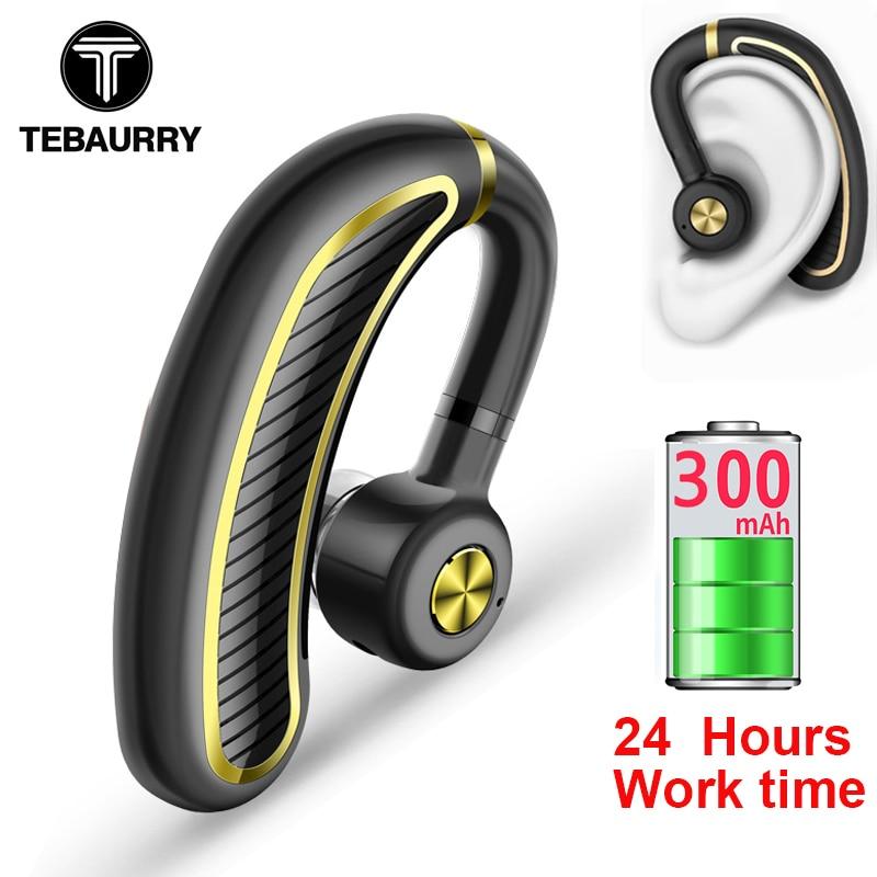 Tebaurry Business Bluetooth Earphone Wireless Headphone With Mic 24 Hours Work Time Bluetooth Headset For Phone Iphone Xiaomi Bluetooth Headset With Mic Bluetooth Headsetheadset With Mic Aliexpress