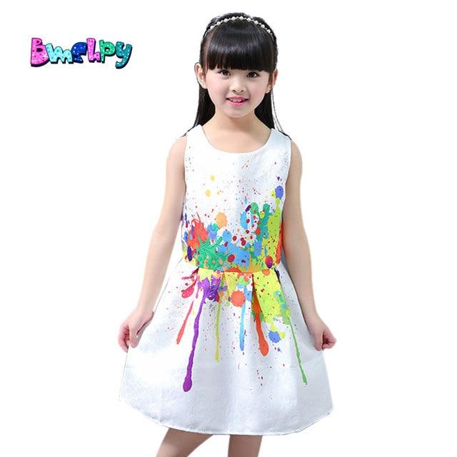 2bc65978f048bd BMSHPY 2017 New Summer Kid Dress Designs Princess Dress For Girls Kids  Sleeveless Dresses Children Clothes White High Quality
