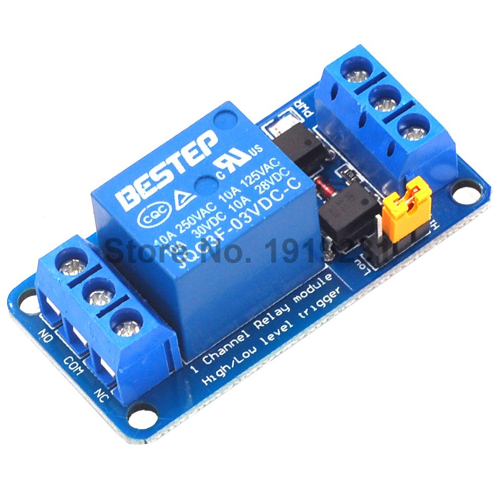 цена на 1PCS 3.3V 1 Channel Relay Module High and low Level Trigger Dual Optocoupler Isolation 3.3V Relay Module