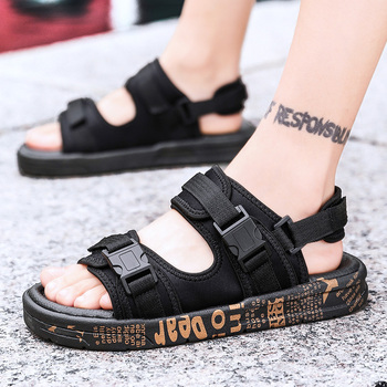GUDERIAN Summer Man Sandals Outdoor Fashion Shoes Sandal For Men Comfortable Beach Sandal Mens Shoes Casual Heren Sandalen