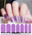 Glitter nail stickers nail patch french manucure on environmental protection All nail decals purple