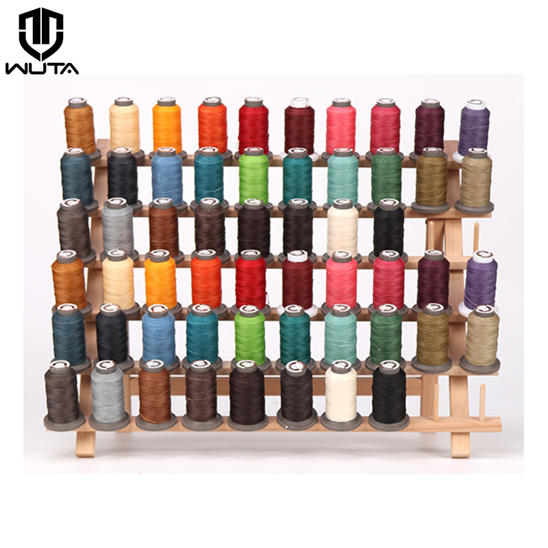 WUTA High Quality Leather Craft Hand Sewing Thread 70meter 0.65mm DIY Leather Polyester Round Waxed Line Leather Work Cord