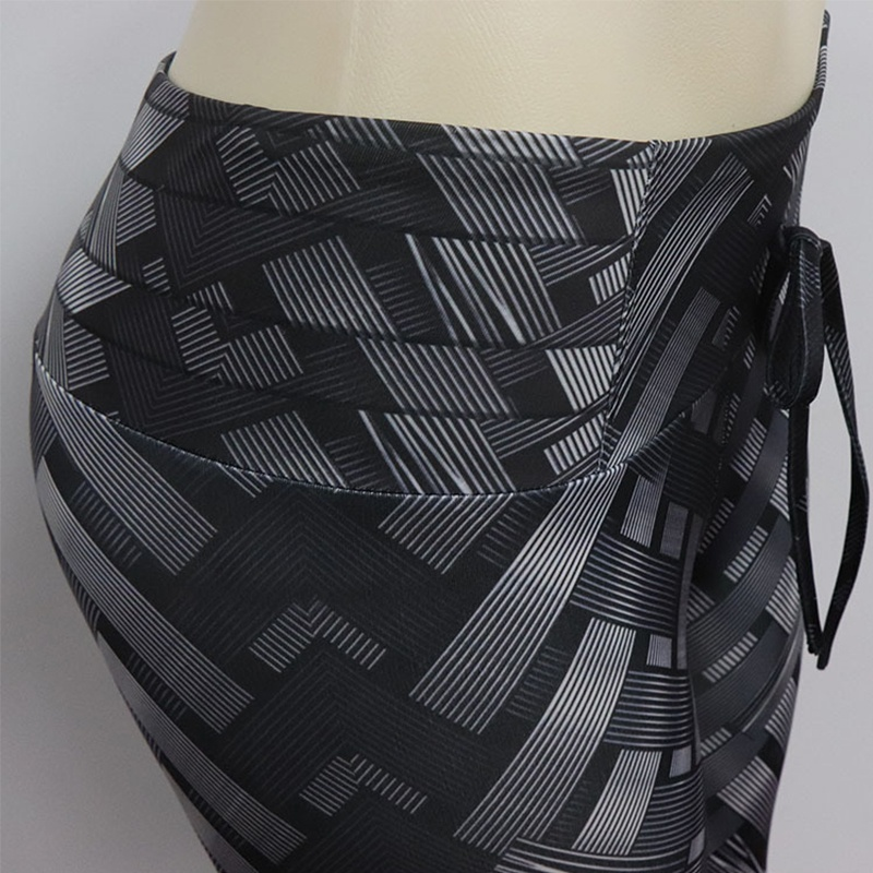 c0e857dd7 2018 Mulheres de Cintura Alta Calças de Yoga de Bambu Tecelagem Impressão  de Fitness Esporte Ginásio Leggings Calças Calças Justas Sportswear
