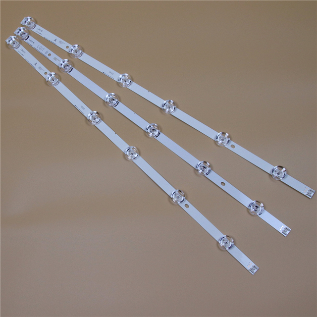 تلفزيون LED القضبان ل LG 32LB5800 32LB5700 32LB580U 32LB580V 32LB570U 32LB570V 32LB580B LED شريط إضاءة خلفي كيت 6LED مصباح عدسة 3 العصابات