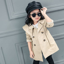Children Spring and Autumn Long Length Wind Coat Boys and Girls Baby Thin Jacket Toddler Kids Long Sleeve Casual Clothing shein kiddie girls zip up color block jacket coat kids clothes 2019 spring streetwear long sleeve casual jacket for children