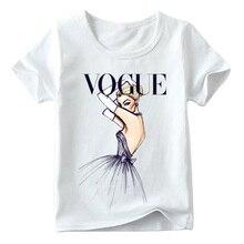 2ac48277db384 Crianças Menina Moda moda de Impressão T camisa Das Meninas Do Bebê Verão  de Manga Curta