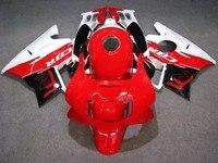km Red white Fairing kit for CBR600 f2 1994 1993 / 1992 1991 cbr 600 fairings 91 92 93 94 f2