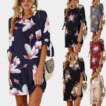 Print Dress 2018 New Fashion Women half sleeve dresses dress  summer lace plus size women