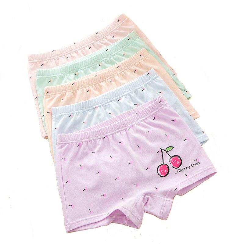 Happy Cherry Baby Girls Training Underpants Boyshort Underwear Cotton Boxer Briefs Assorted 4-Pack