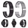 Nueva s3 elegante correas de reloj de acero inoxidable correa correa para samsung gear enlace pulsera clásico de plata negro para samsung s3