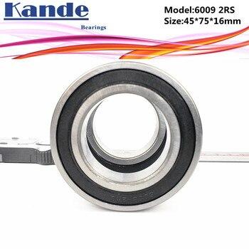 6009RS 2 uds ABEC-5 de alta calidad 6009 2RS sola fila rodamiento rígido de bolas 6009-2RS 45x75x16mm Kande rodamiento
