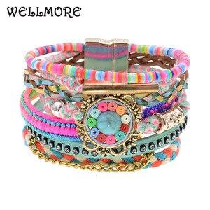 WELLMORE women bracelets Leath