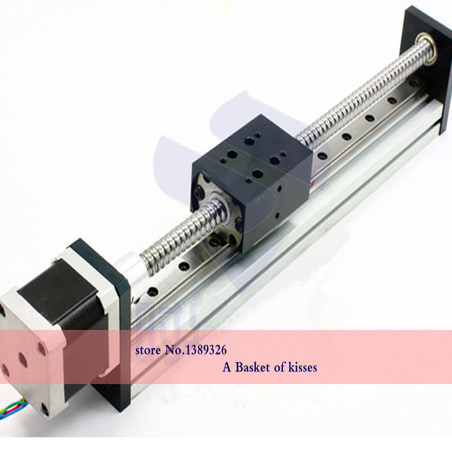 Line rail linear guide slider with a slider with 42/57 stepper motor ball slide length can be customized