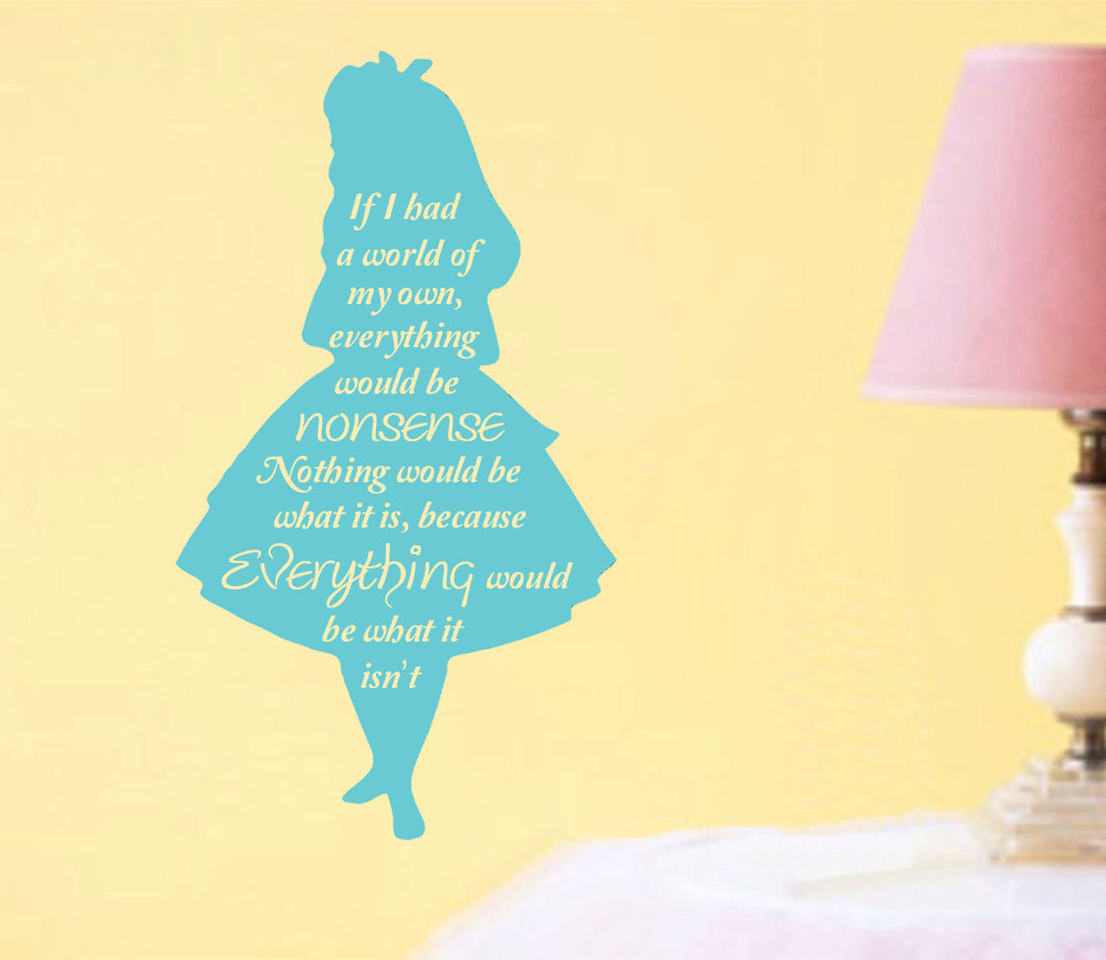 Cheshire Cat Mouth Pattern With Quotes Wall Decals Alice In ...