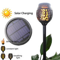 4pcs/lot Solar 96LED 3 working mode Lawn Dancing flame Torch Lights radar led Retro lamp Garden lantern street outdoor landscap