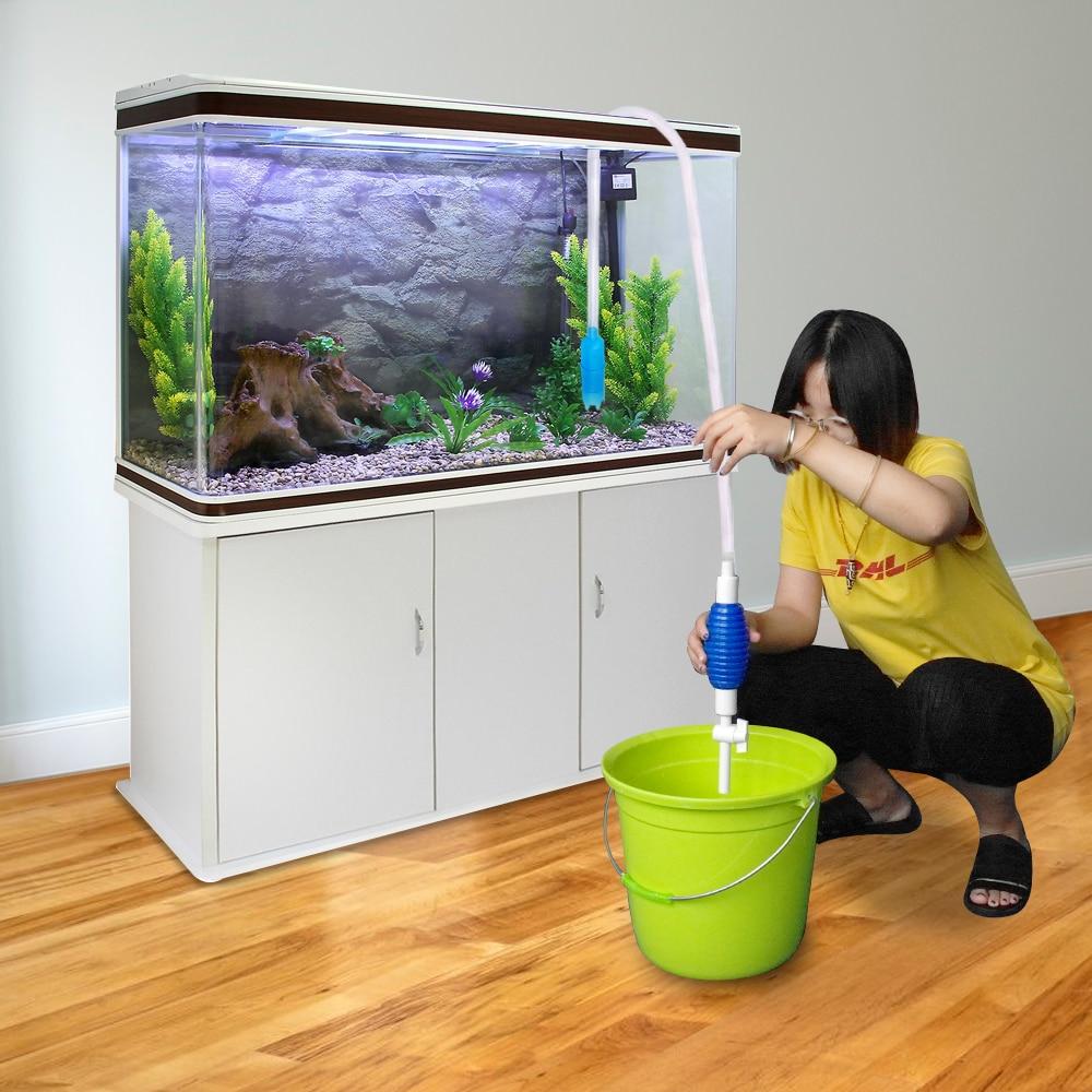 Image 2 - Aquarium Filter Fish Tank Cleaner Vacuum Gravel Water Siphon Pump Gravel Rake Aquatic Pump Aquarium Cleaning Tools S L-in Cleaning Tools from Home & Garden