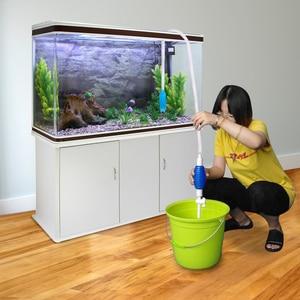 Image 2 - Aquarium Filter Fish Tank Cleaner Vacuum Gravel Water Siphon Pump Gravel Rake Aquatic Pump Aquarium Cleaning Tools S L
