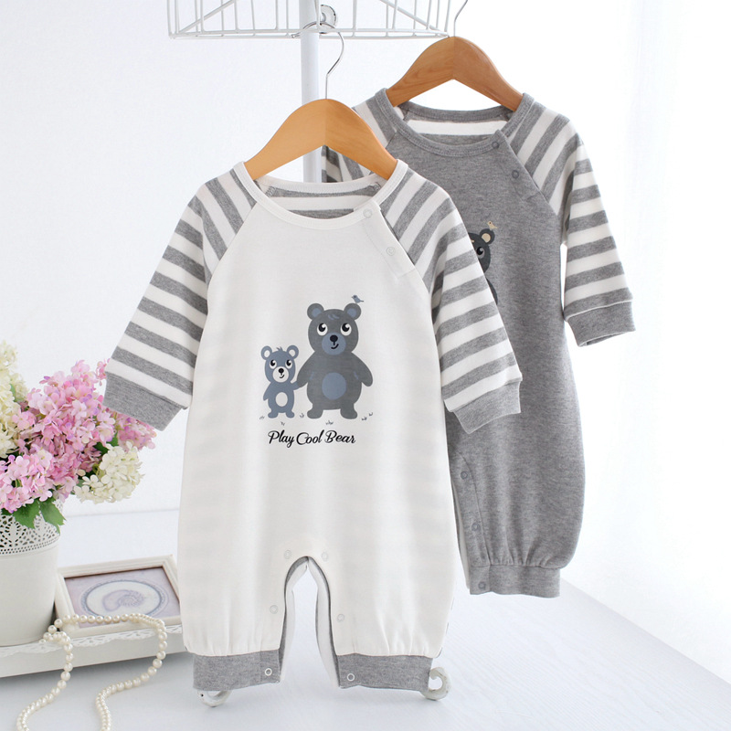 Spring Autumn Baby Clothing Newborn Rompers Baby Boy Jumpsuit Cute Print Bear Overalls Infant Boy Clothes Pajamas Ropa newborn baby rompers baby clothing 100% cotton infant jumpsuit ropa bebe long sleeve girl boys rompers costumes baby romper