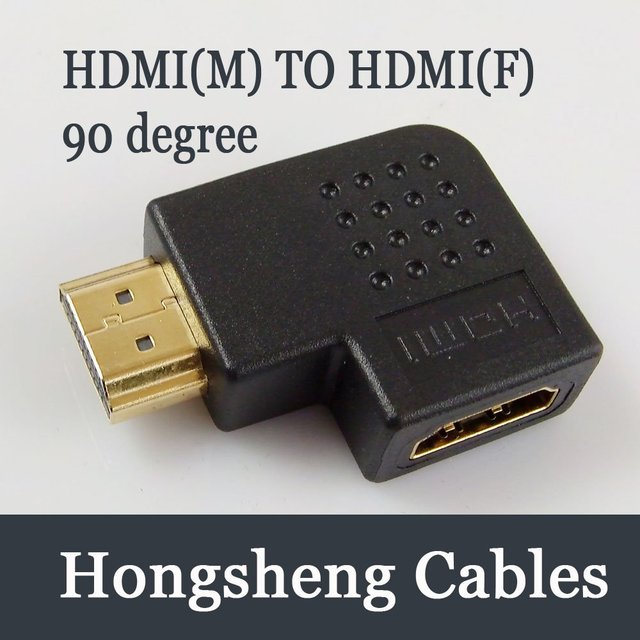 Free shipping HDMI LEFT/RIGHT Angle Port Saver Adapter Male to Female 90 Degree Vertical Flat M/F
