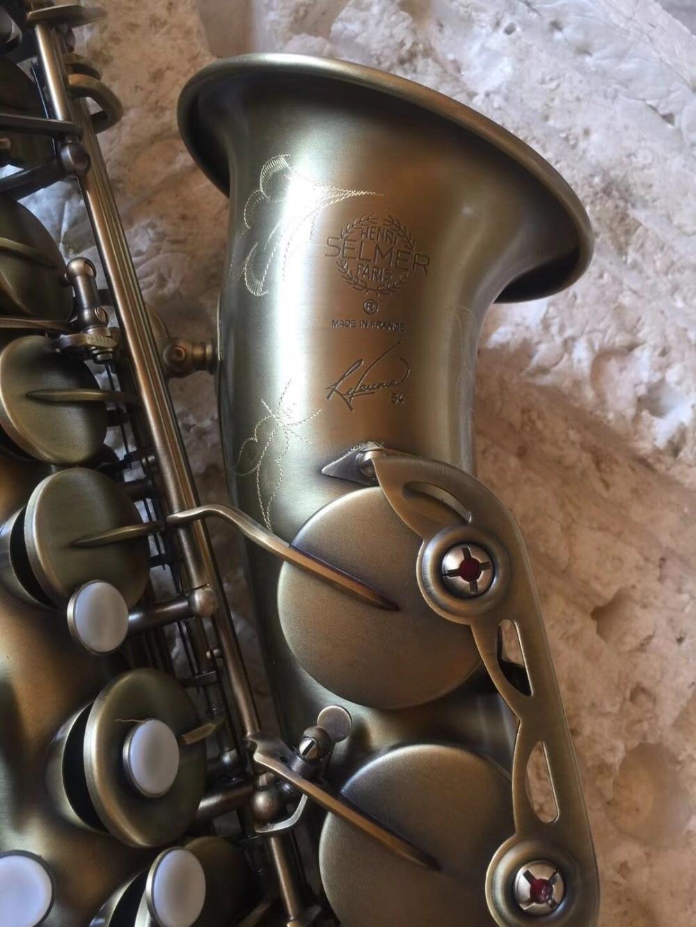 Selme 54 Model Alto Saxophone E-flat Sax Antique Copper Simulation Professional Brass Instruments + hard case music instruments france 54r alto saxophone e flat alto saxophone black nickel play professional brass saxophone free shipping