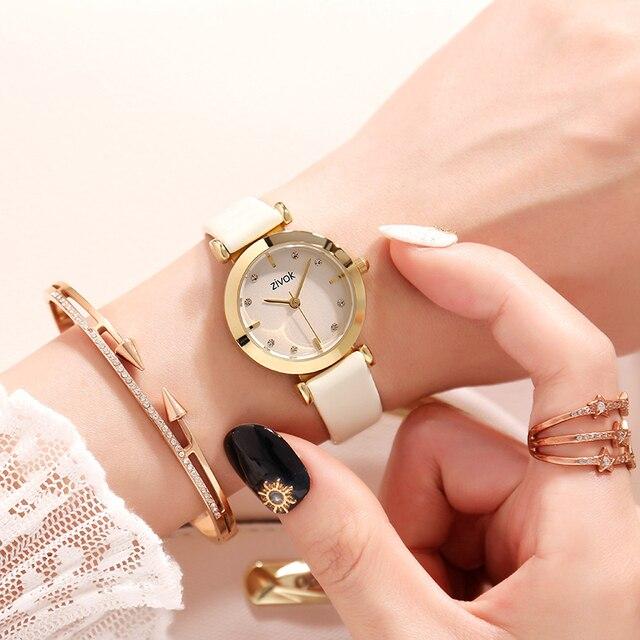 zivok Brand Women Bracelet Watches Relogio Feminino Luxury Fashion Leather Watch