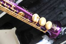 Wholesale -Best Sale Cnbald soprano saxophone in first step series in purple 121209