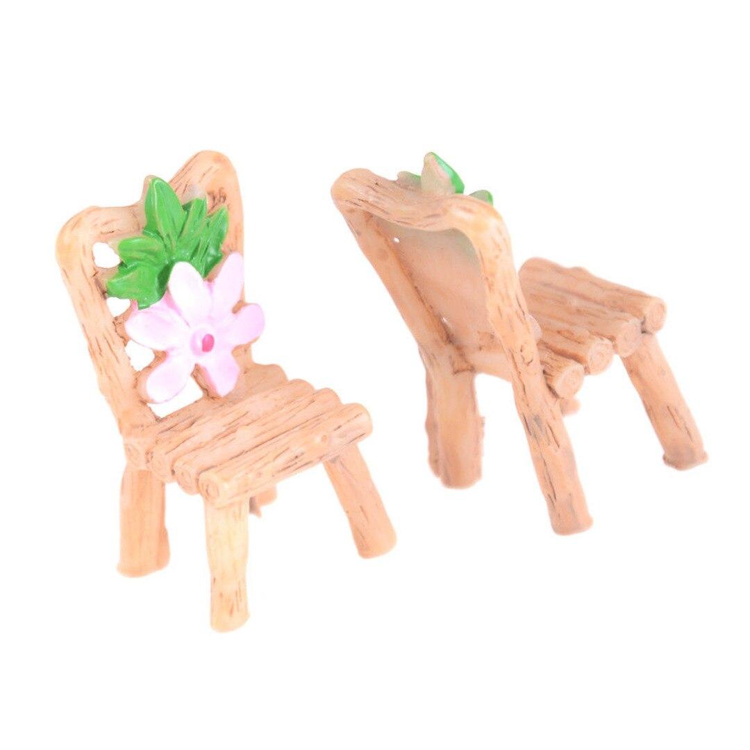 Mayitr 3 шт. миниатюрный пейзаж цветочный стол, стулья Сказочный Сад Кукольный домик орнамент для украшения сада подарки для детей