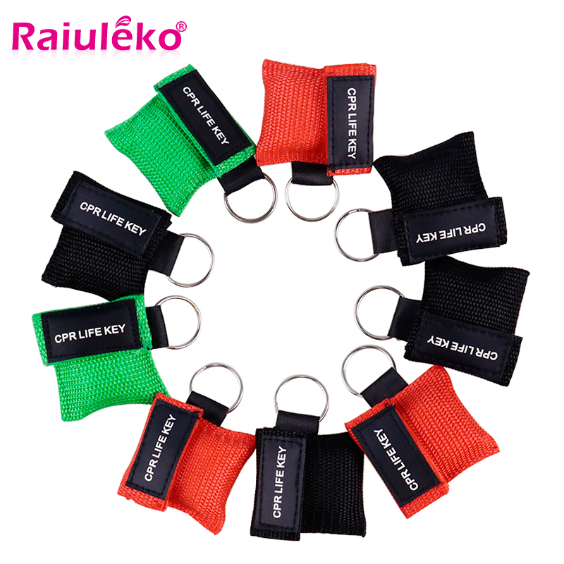 20pcs 3 Color Medical CPR Resuscitator Mask Keychain First Aid Emergency Face Shield CPR Mask CPR Mask for Outdoor Survival-in Masks from Beauty & Health