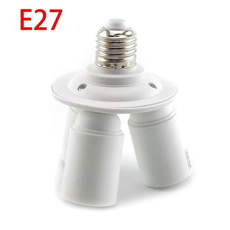 3 In 1  E27 Adapter Plug Bulb Holder Splitter Lamp Converter Lamp Bulb Bases LED 1 E27 To 3 E27 LED Light Base Socket Adaptor