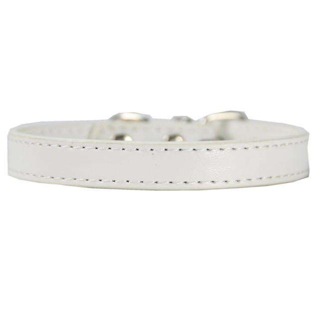 (1 piece / lot )  Plain Small Cat Collar Pu Leather Collar for a cat  Puppy  XS S