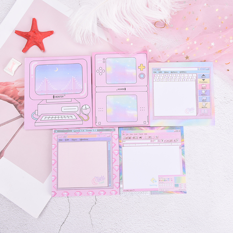 Paper Notebook Computer Games Pattern Notepad N Times Sticky Notes Memo Pads
