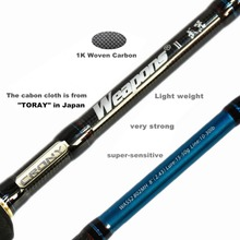 Crony Weapons WASS2-722H Sea Bass 2pieces Spinning Rods 7'2″ /2.18m 20-65g Lure Weight PE 2-4 Line Class