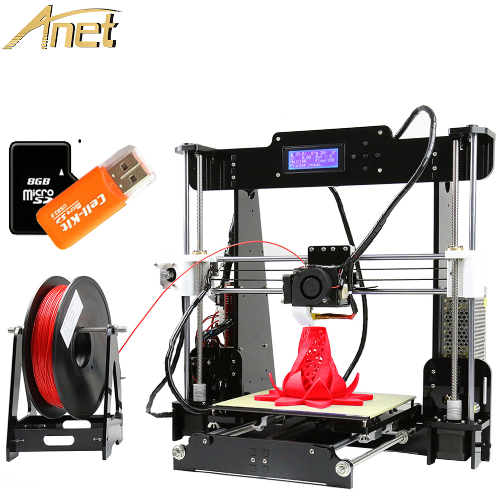 Affordable 3D Printer High Precision Anet A8 3D Printer Auto Level Reprap Prusa i3 DIY Printing Machine Print Size 220*220*240mm affordable price 1 6m xp600 head eco solvent digital printer entry level large format vinyl banner poster printing machine
