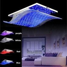4 conversão de cor lustre de teto cristal led moderna sala estar jantar do hotel iluminação cristal rty 1