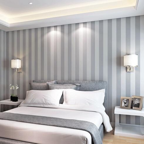 Modern Wallpaper For Bedroom aliexpress : buy mural wallpaper modern stripe roll solid