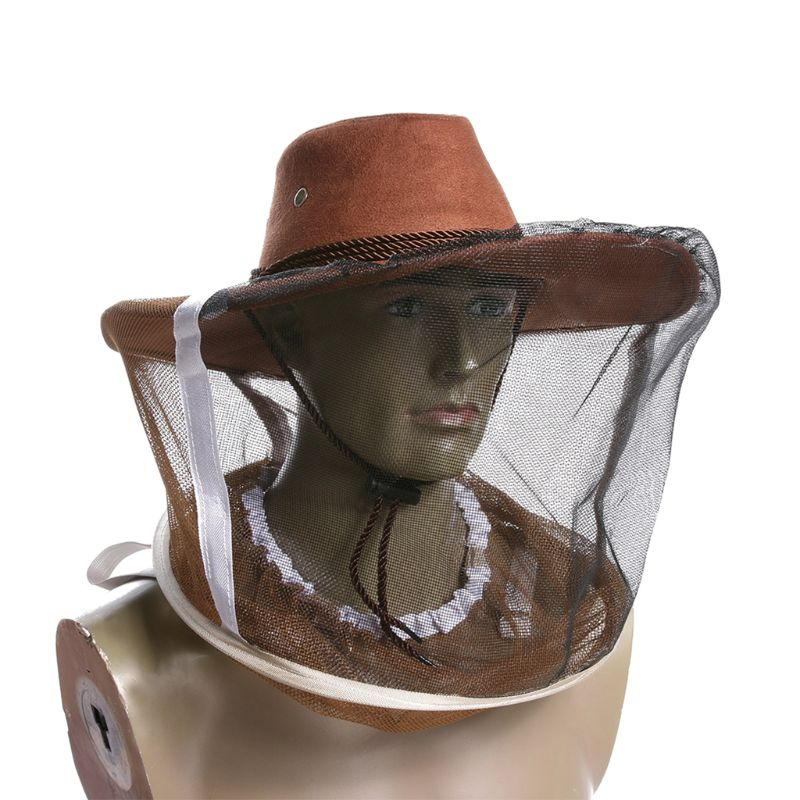 Beekeeping Beekeeper Cowboy Hat Mosquito Bee Insect Net Veil Face Protector EM#
