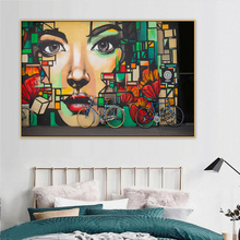Abstract Girl Graffiti Urban Street Art Mural Canvas Painting Poster and Print POP Wall Art Pictures for Living Room Home Decor gulliver пол yw710250
