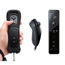 Envío gratis 1 Unidades negro controlador remoto inalámbrico para Wii con Built in Motion Plus Remote y Nunchuk