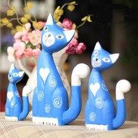 Een lot/3 stuks creatieve houten gesneden schilderen katten model handwerk ornament woondecoratie speelgoed gift a1608